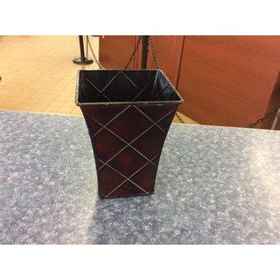 """Metal Vase 6 1/2"""" tall"""