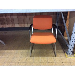 Orange side chair