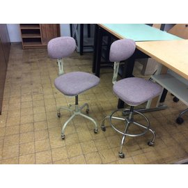 Mauve counter height lab stool(adjustable)