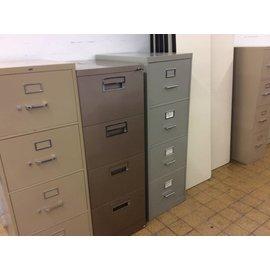 Lt. gray legal 4 drawer file cabinet