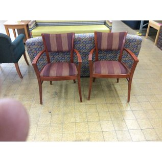 Cherry wood dining room chairs