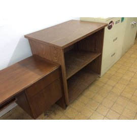 "26 1/8""x 37 1/8""x39 1/4 Brown wood shelf unit"