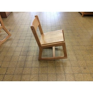 Wood desk chair with rocking base
