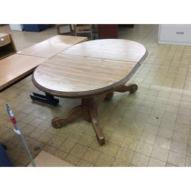 "41 1/2x59 1/2x29 1/2"" Oval wood kitchen table"