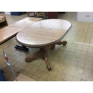 """41 1/2x59 1/2x29 1/2"""" Oval wood kitchen table"""