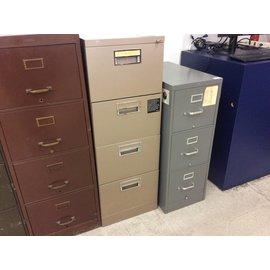 Bronze legal size metal filing cabinet