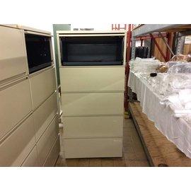 "19 1/2x29 3/8x62 5/8"" Beige 5 drawer lat file cab"