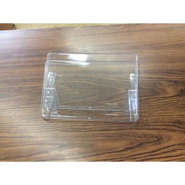 Clear plastic wall mount file holder