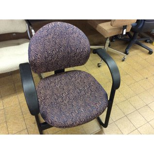 Dark pattern Side Chair with arms