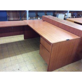 "70x109 1/2x64 1/2"" wood U shape Desk with hutch"