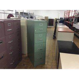 Green 4-drawer metal file cabinet