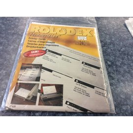 Rolodex 2 1/4x4in. Printer Cards -  1 pkg.