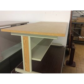30x60x27 Woodtop Metal Frame Computer table
