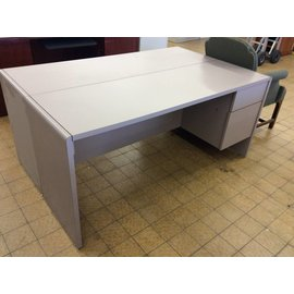 20x66x29 1/2 Light Violet Credenza with Right Pedestal