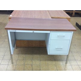 45x24x29 1/2 Light Grey Metal Student Desk