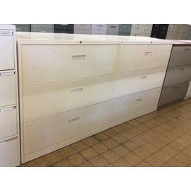 18x42x41 1/2 Off White 3 Drawer Lateral File