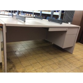 30x66x29 Light Violet Desk w/ R/Pedestal