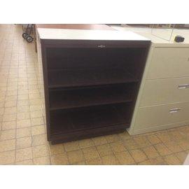 15x36x42 Brown metal 2 shelf bookcase