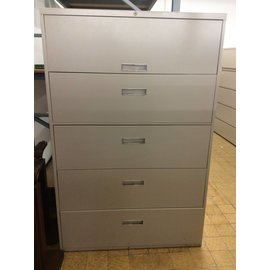 "18x42x64 1/2"" Light Brown 5 Drawer Lateral File Cabinet"