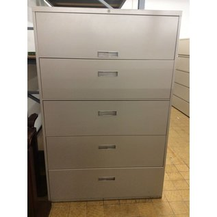 """18x42x64 1/2"""" Light Brown 5 Drawer Lateral File Cabinet"""