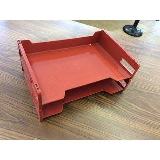 2 tier Paper Tray rust/orange color