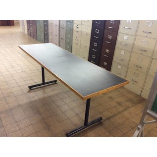 """24x72x29"""" black top work Table with metal legs"""