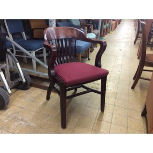 Wood Padded Side Chair (Red)