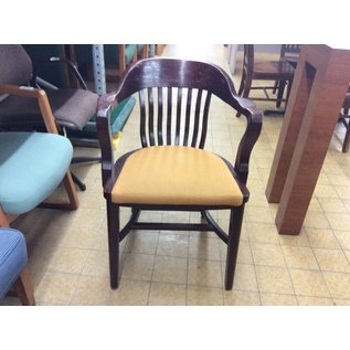 Wood Padded Side Chair (Gold)
