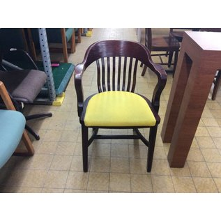 Wood Padded Side Chair (Yellow)