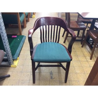 Wood Padded Side Chair (Green)
