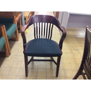 Wood Padded Side Chair (Black)