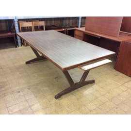 """42 1/2x84 1/2"""" Wood conference table w/pullout on end"""