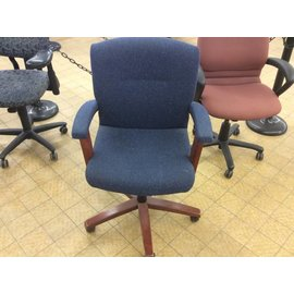 Blue Desk Chair w/ Arms and castors