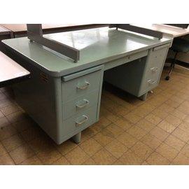 60x30x29 Light Blue Green Steelcase Desk