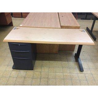 60x24x29 WoodTop Left Pedestal Desk