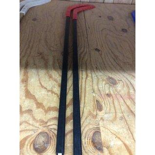 Red Plastic Practice Hockey Stick