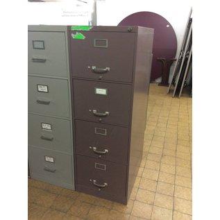 Mauve Legal 4 Drawer File Cabinet