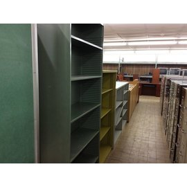 "12 1/2x36x84"" Green metal  bookcase (8/9/18)"