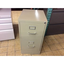 "18x15x29"" beige metal 2 drawer File Cabinet"