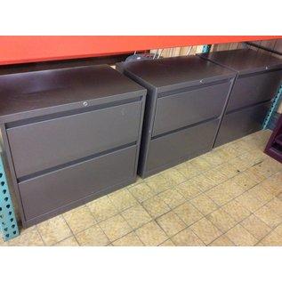 """18x30x28 1/2"""" Grey metal 2 drawer Lat. File"""