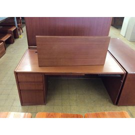 35x70x30 L Pedestal Wood Desk