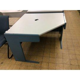 43x43x30 Blue Metal Corner Desk