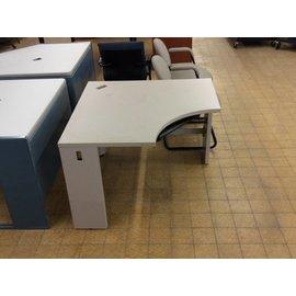 42x42x30 Light Grey metal corner Desk
