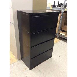 "19x42x53"" Black metal 4 drawer Lateral File"