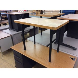 """24x36x29"""" Wood top metal legs library table"""
