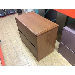 20x36x30 Wood 2 Drawer Lateral Filing Cabinet