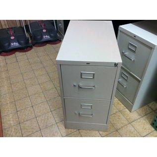 15x 26 1/2x29 Tan Metal Filing Cabinet