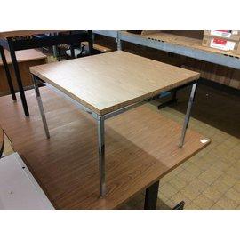 """30x30x22"""" Wood top metal legs end table"""