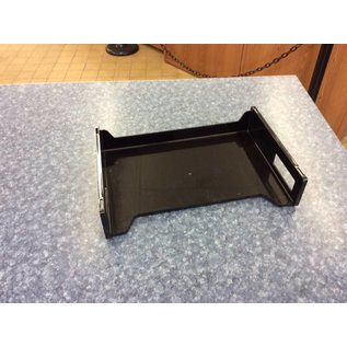 Black plastic paper tray