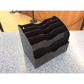 Black plastic 5 slot file organizer